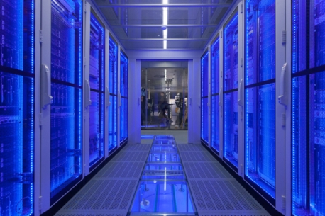 Data Center Row Cooling with Cool Side Enclosed - from POWERandDATA.info